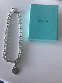 Tiffany&Co Heart Tag Chain Necklace- Authentic