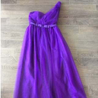 Purple Floor Length Bridesmaid Dress / Perfect for Sewing Projects