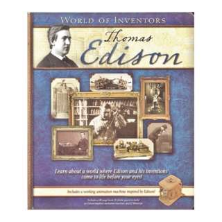 World of Inventors: Thomas Edison - Hardcover Book & Build an Animation Machine