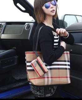 Burberry Inspired Shoulder Bag