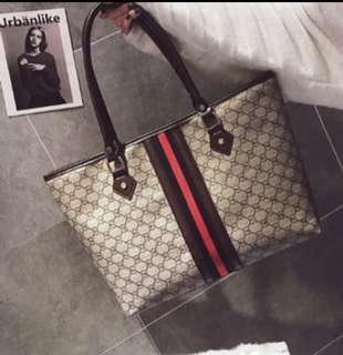 Gucci inspired shoulder bag/ tote bag