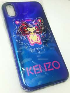Premium Blue Kenzo Tiger iPhone 10/X case