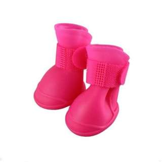 Pink Rubber Rain Boots for Pets