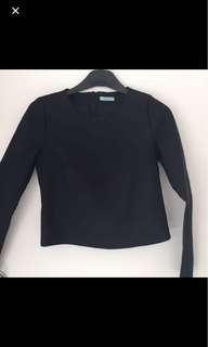 Kookai black long top size 1