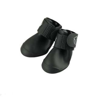 Black Rubber rain boots for dogs