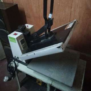 Heat press and Plotter