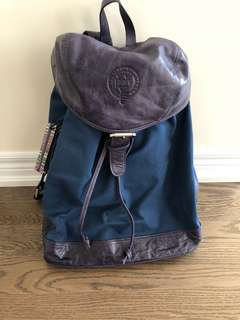 Rhodes Backpack Blue Canvase & Library Blue; large capacity, side zipper