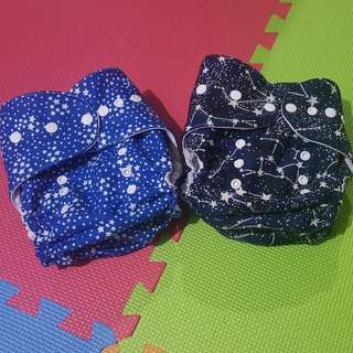 SALE! HF / Hybrid Fitted Stars Cloth Diaper / FREE SF!!!/ with free St Patrick sleeveless