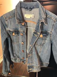 Jean jacket perfect for summer. Size 2