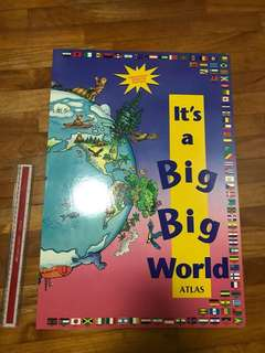 Big world atlas worldwide in nutshell concise of info natural resources and civilisation