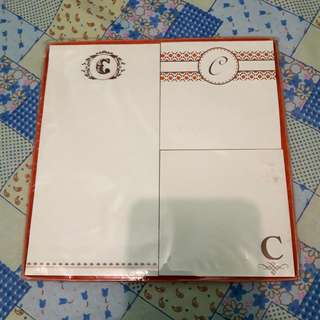 LETTER C LETTER NOTES AND PAD