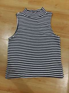 DIVIDED H& M Striped crop top