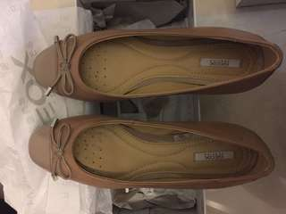 GEOX Pink Leather Flat Shoes