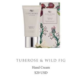 Cochine Saigon tuberose & wild fig soothing hand cream