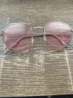 PINK LENSE 70's GLASSES