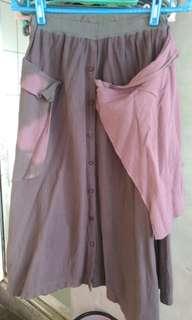 🚚 泰國製粉紫手染兩穿式衣,裙