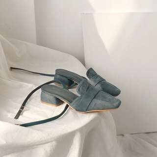 Vintage Blue Medium Heel Sandal