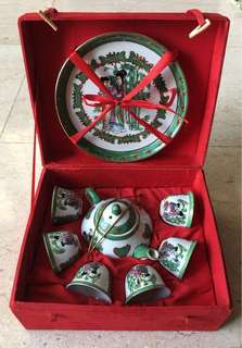 Porcelain Tea Set 6-Cup from China