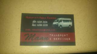 Van Transport (13/19 seater)