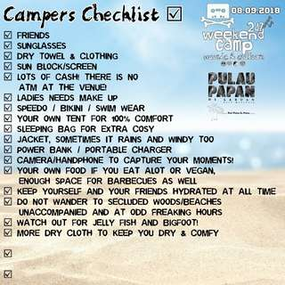 Weekend Camp fest