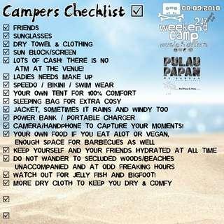 Weekend Camp @ Malaysia