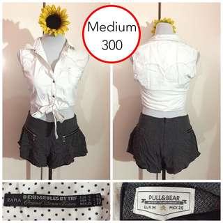 SET! Zara Vest and Pull & Bear Shorts