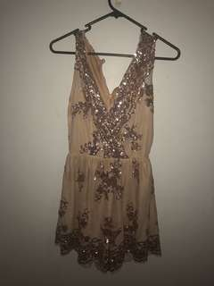 Sequined Gold Playsuit