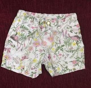 H&M Floral Shorts (4-5Y)