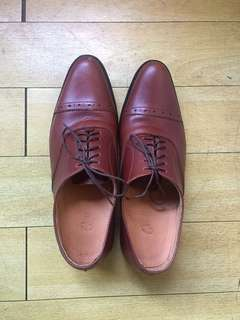 Custom Made Brown Leather Shoes