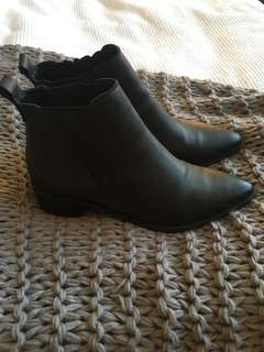 Decjuba Black Leather Boots