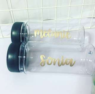 Customisable bottle calligraphy graduation teacher's teachers' Day gift gifts present presents Friend friends birthday Event corporate Girlfriend teacher Teachers customised company waterbottle Personalised Colleague colleagues graduation birthday