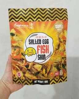 Fragrance salted egg fish skin