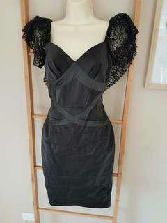 New with no tag - PasCucci Couture dress with embellished sleeve - Sz 8/S