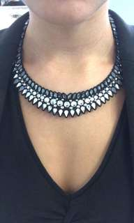Original Swarovski Crystal Diamond on leather necklace