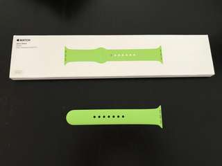 Apple Watch band, 手錶帶1 條,M/L, 38mm, green。with original box.