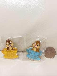 迪士尼chip & Dale襟章disney pin