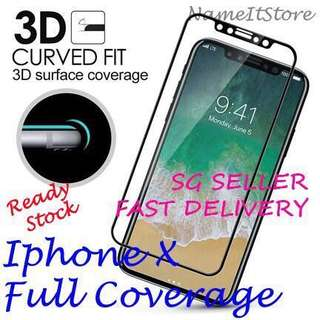 🚚 IPhone X Tempered Glass Screen Protector Soft edge
