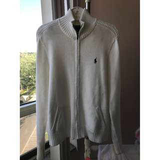 Ralph Lauren Sports white cotton sweater size XL