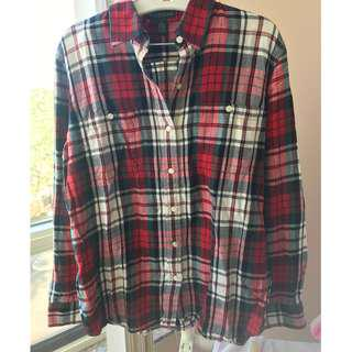 Ralph Lauren Jeans long sleeve plaid shirt, size L