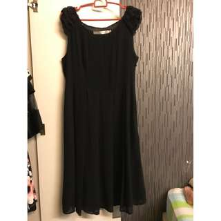 Worn once for Dinner,  Woman, Ladies, evening dress, black chiffon, comfy, Size M-L, Dress, Korean Style, babydoll (Free Normal postage)