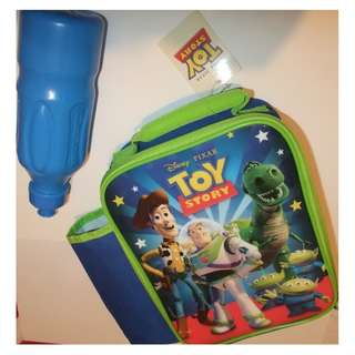Disney Pixar - Toy Story - Insulated Lunch Tote Bag with Water Bottle – Brand New