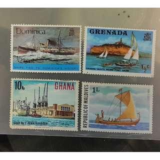 帆船郵票(12)