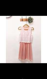 🚚 甜美粉粉洋裝