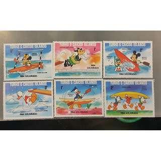 TURKS CAICOS ISLANDA郵票(4) 1984 LOS ANGELES