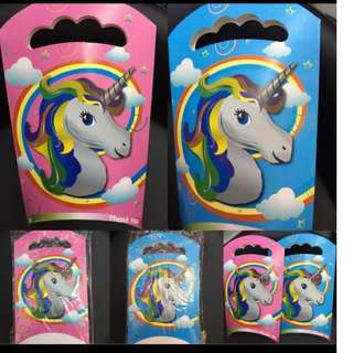 UNICORN CANDY GIFT BOX LOOT BAG 10 pcs