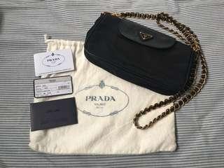 Prada Tessuto Nylon convertible clutch sling bag