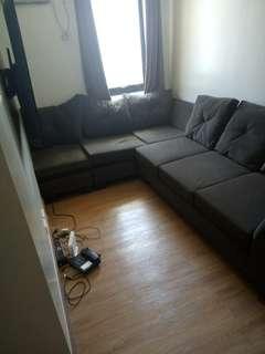comfortable brown L shaped sofa