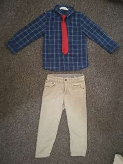 H&M Polo, Tie and PANTS Set