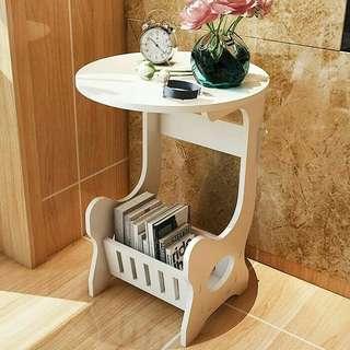 Meja putih bulat Untuk ngopi /Meja samping