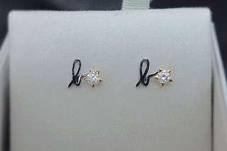 Agnes B 水晶耳環